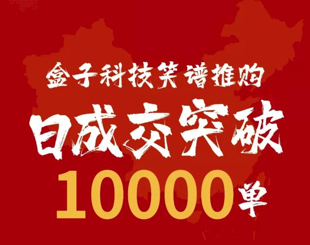 戰疫情,危中有機——盒子科技笑譜推購日成交突破10000單!